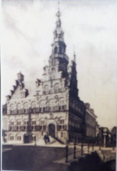 505 - Townhall Franeker in pencil (1955)  [70x50]